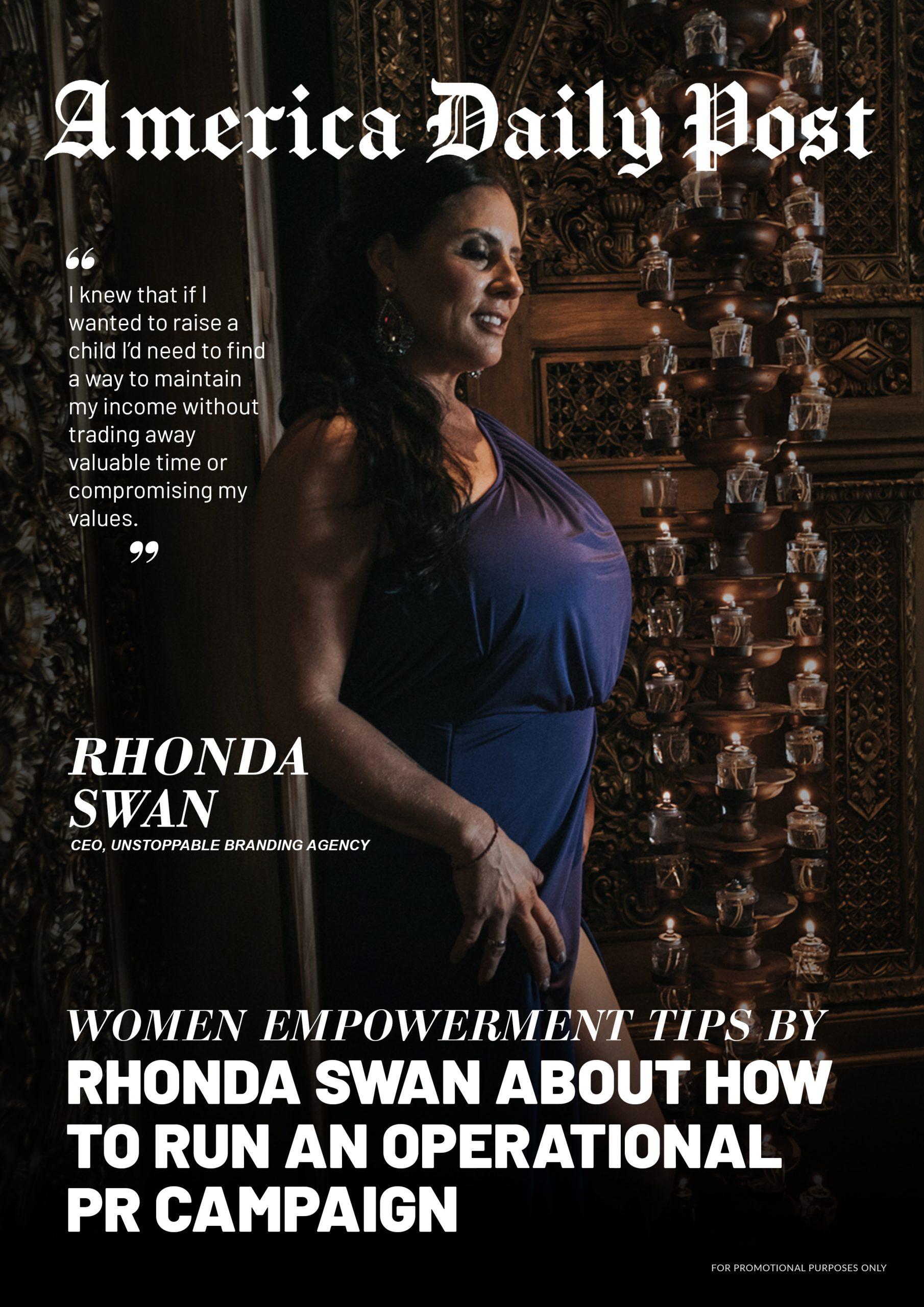 Rhonda Swan (America Daily Post Cover)
