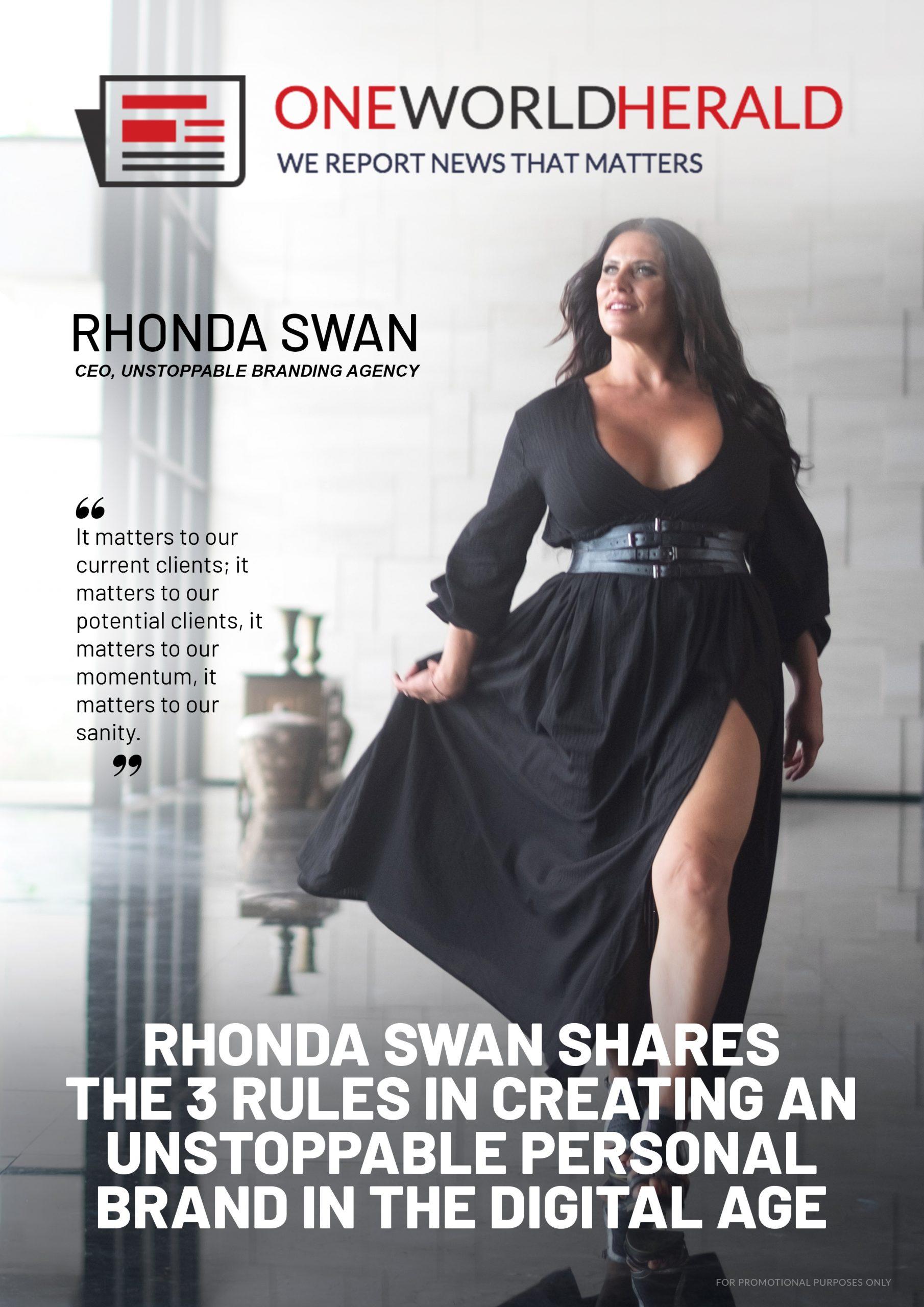 Rhonda Swan (OneWorldHerald Cover)