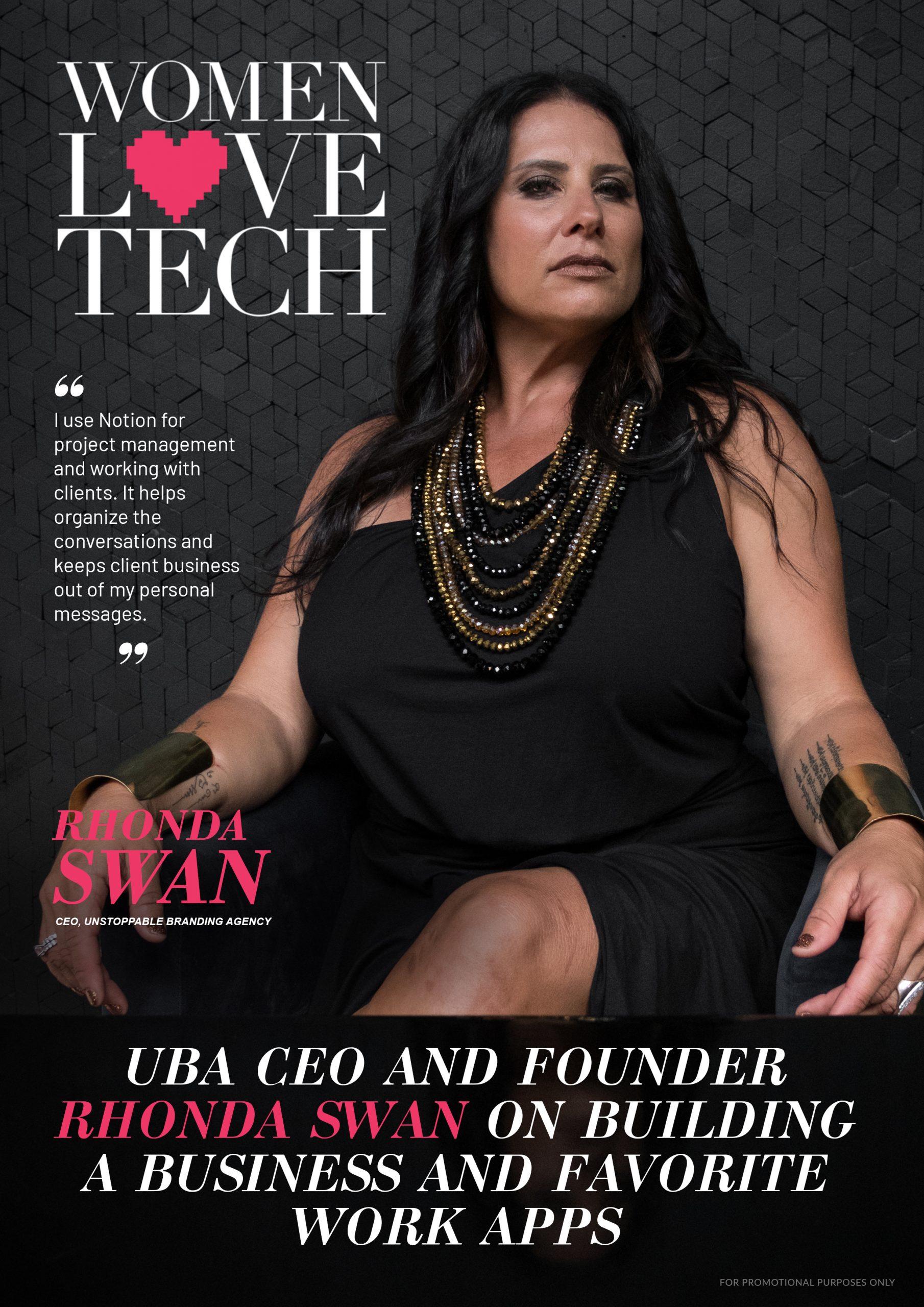 Rhonda Swan (WomenLoveTech Cover)